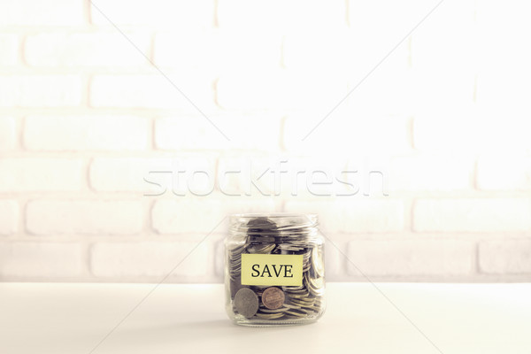 Save money bank deposit vintage style Stock photo © vinnstock