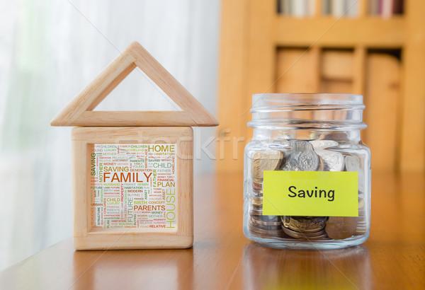 Saving money with family home word cloud Stock photo © vinnstock