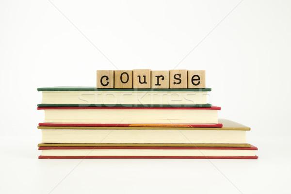 Mot bois timbres livres connaissances Photo stock © vinnstock