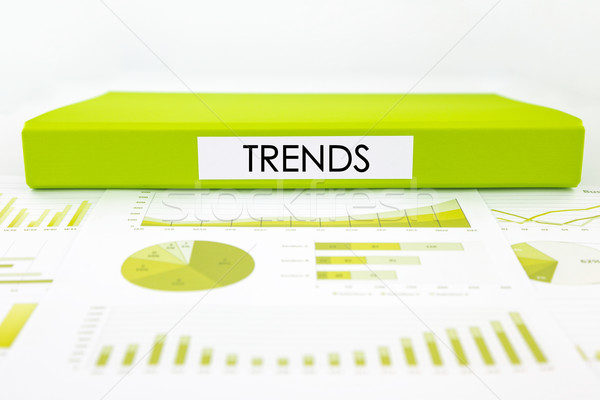 Stockfoto: Trends · grafieken · charts · marketing · verslag · groene