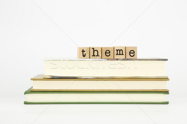 Wort Holz Briefmarken Pfund Buch Stock foto © vinnstock