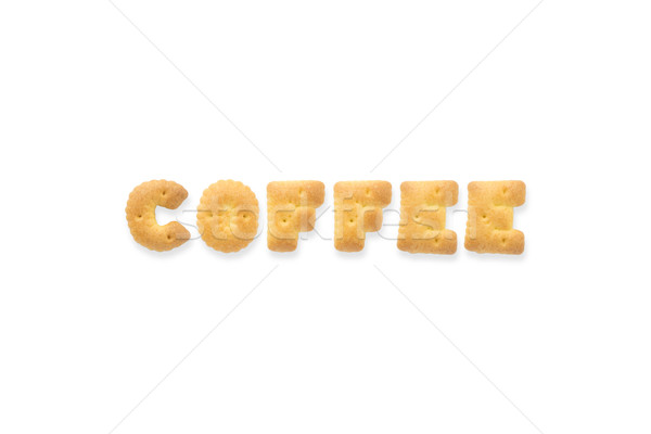 The Letter Word COFFEE Alphabet  Cookie Biscuits Stock photo © vinnstock