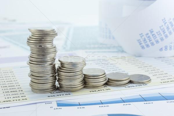 Curve of money coins stacks Stock photo © vinnstock
