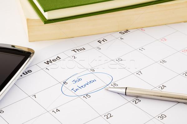 Nombramiento calendario reclutamiento humanos Foto stock © vinnstock
