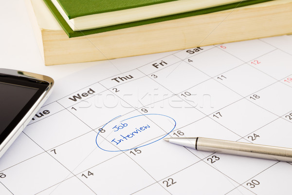 Appuntamento calendario reclutamento umani risorsa Foto d'archivio © vinnstock