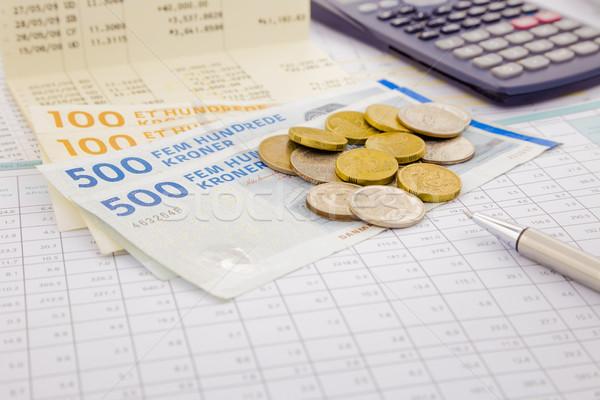 Para kâğıt para Danimarka hesap Stok fotoğraf © vinnstock