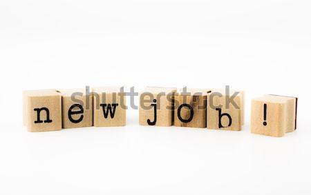 thank you wording isolate on white background Stock photo © vinnstock