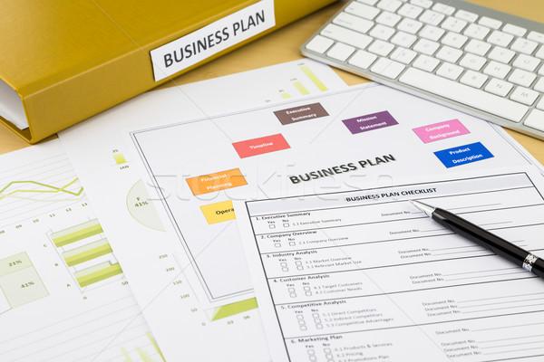 бизнеса плана документы место workspace Сток-фото © vinnstock