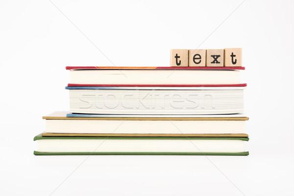 Tekst słowo drewna znaczków książek Zdjęcia stock © vinnstock