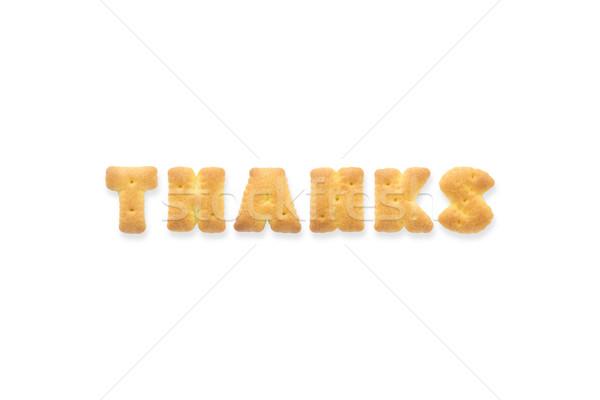 Mektup kelime teşekkürler alfabe kurabiye bisküvi Stok fotoğraf © vinnstock