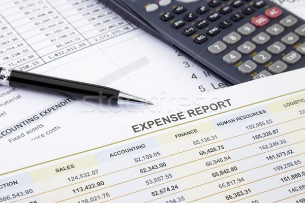 Despesa gestão relatório negócio caneta calculadora Foto stock © vinnstock