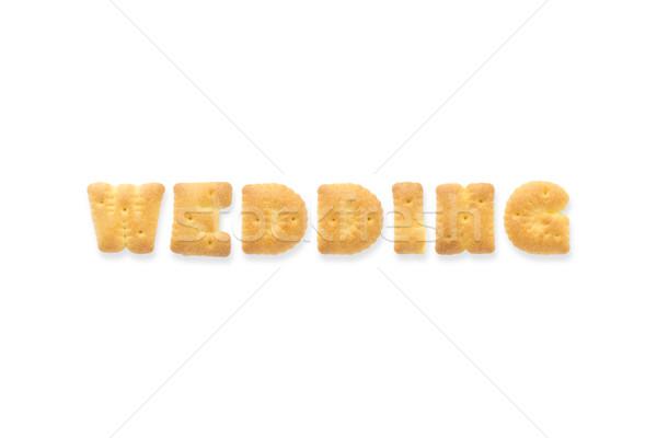 The Letter Word WEDDING. Alphabet  Cookie Biscuits Stock photo © vinnstock