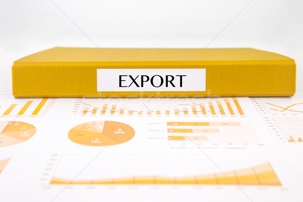 Export documents, graph analysis and sale report Stock photo © vinnstock
