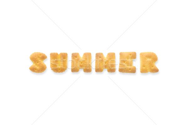 The Letter Word SUMMER Alphabet  Cookie Crackers Stock photo © vinnstock
