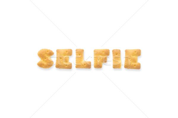 Carta palabra alfabeto cookie galletas collage Foto stock © vinnstock