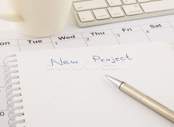 ideas for new project, blank paper on office table Stock photo © vinnstock