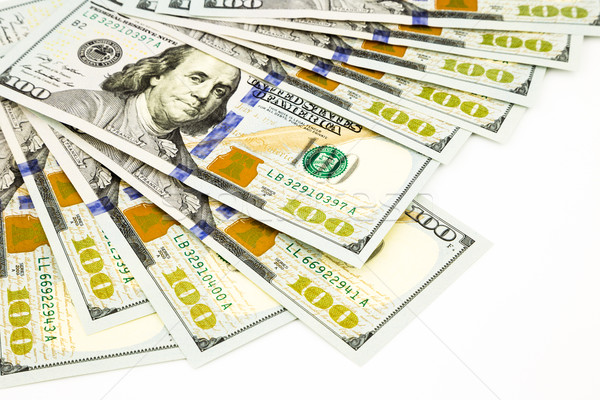 new edition 100 dollar banknotes, money and currency concept Stock photo © vinnstock