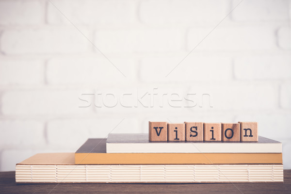 слово видение алфавит резиновые Сток-фото © vinnstock