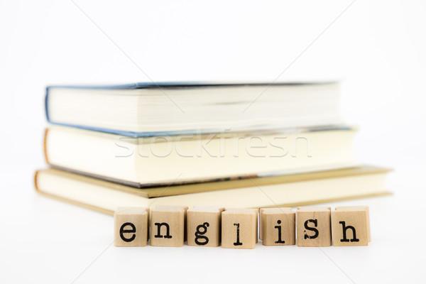 english wording stack on books   Stock photo © vinnstock
