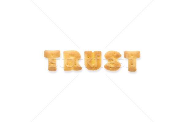 The Letter Word TRUST Alphabet  Cookie Crackers Stock photo © vinnstock
