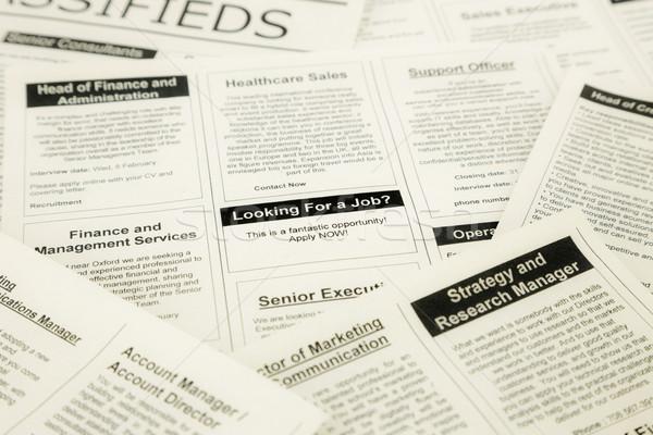 Recherche petites annonces journal affaires Photo stock © vinnstock