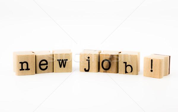 new job wording on white background Stock photo © vinnstock