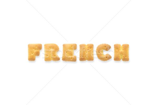 The Letter Word FRENCH Alphabet  Cookie Cracker Stock photo © vinnstock