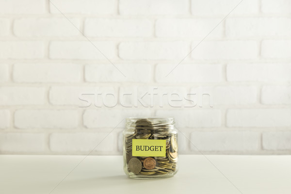 Bütçe para bağışlamak madeni para cam Stok fotoğraf © vinnstock