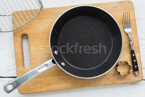 Mutfak gereçleri pişirme üst görmek boş Stok fotoğraf © vinnstock