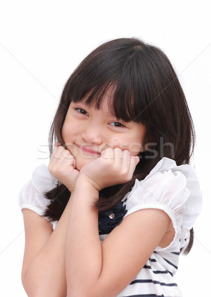Cute little girl with happy feeling.   Stock photo © vinnstock