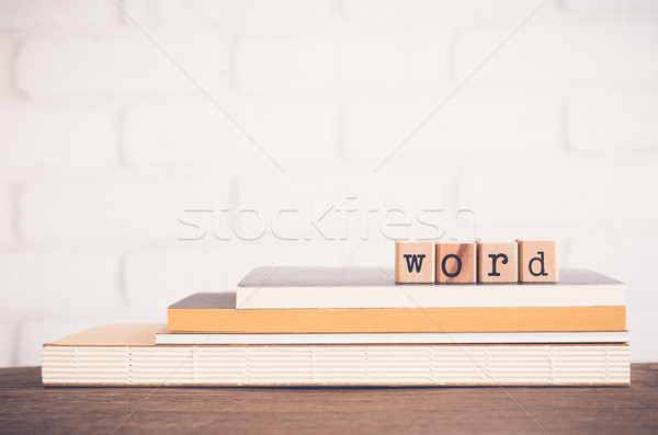 The Word letters and copy space background. Stock photo © vinnstock