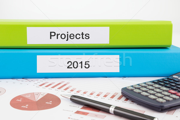 Yıl plan proje belgeler projeler Stok fotoğraf © vinnstock