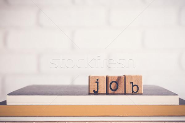 Kelime iş bo alfabe ahşap Stok fotoğraf © vinnstock