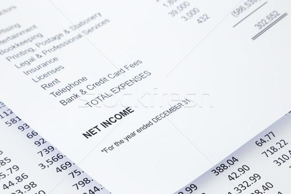 Net income statement reports  Stock photo © vinnstock