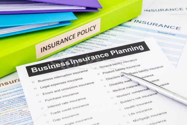 Business insurance planning checklist for risk management Stock photo © vinnstock