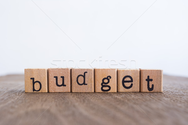 The word Budget, copy space background. Stock photo © vinnstock