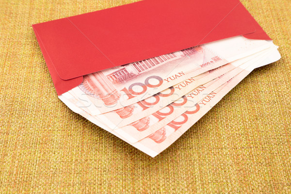 yuan banknote and red envelope Stock photo © vinnstock