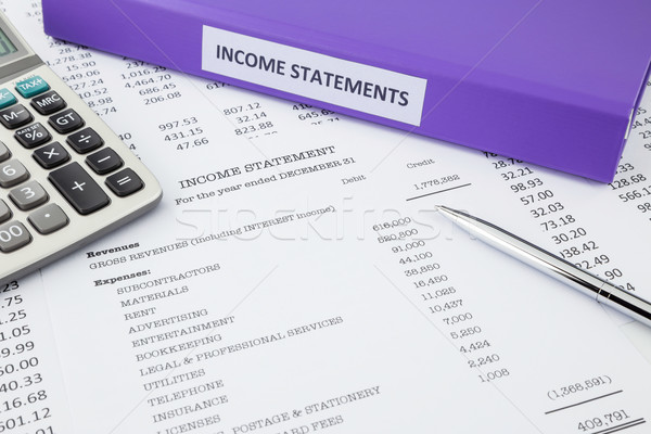 Accounting for business income statement Stock photo © vinnstock