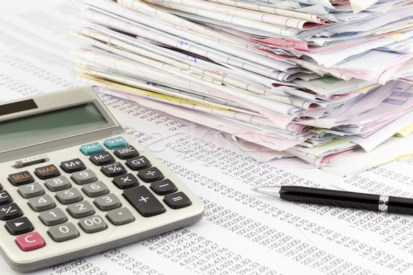 Fattura sintesi mutui finanziaria relazione Foto d'archivio © vinnstock