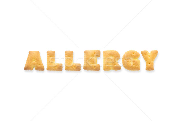 Brief woord allergie alfabet cookie biscuits Stockfoto © vinnstock