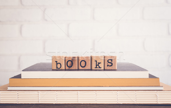 The word Books and blank space background. Stock photo © vinnstock