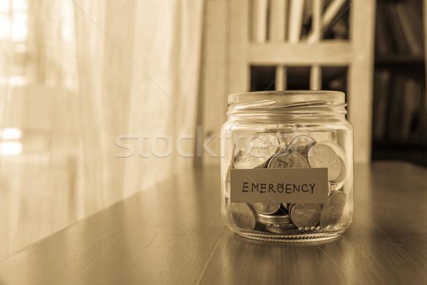Urgence économies fonds argent jar monde Photo stock © vinnstock