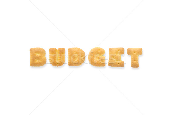 Brief woord budget alfabet cookie collage Stockfoto © vinnstock