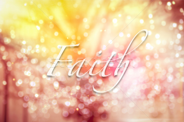 Faith typographic word on abstract bokeh background  Stock photo © vinnstock