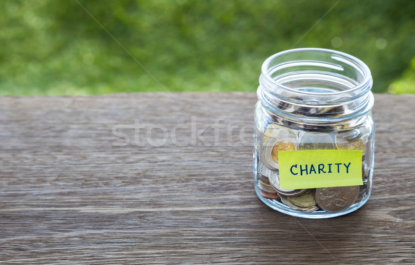 Charity donation money glass jar Stock photo © vinnstock