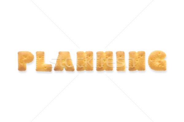 Mektup kelime planlama alfabe kurabiye kolaj Stok fotoğraf © vinnstock