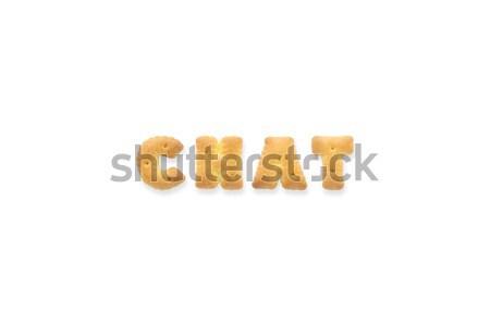 письме слово любви алфавит Cookie Печенье Сток-фото © vinnstock