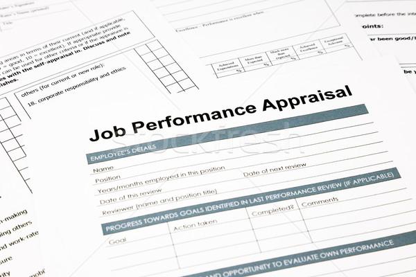 Foto stock: Trabajo · rendimiento · evaluación · forma · negocios · primer · plano