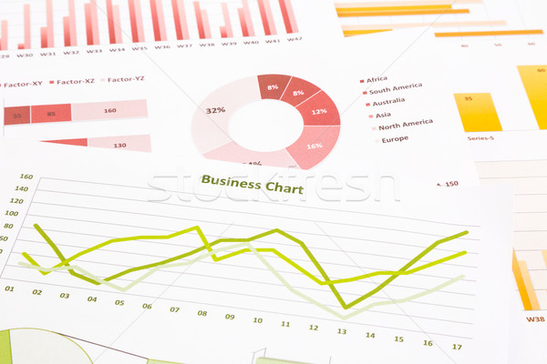 business charts, data analysis, marketing research, global econo Stock photo © vinnstock