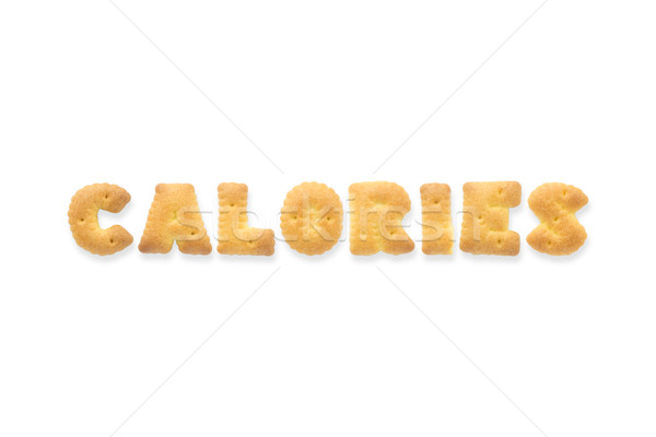 Lettre mot calories alphabet cookie biscuits Photo stock © vinnstock